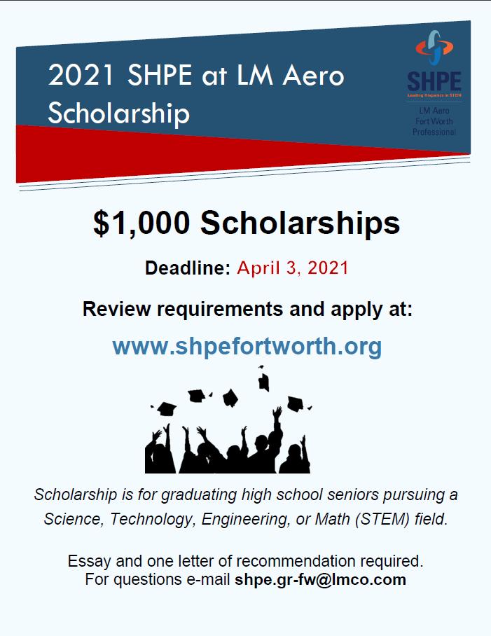 2021 LM Aero Scholarship Flyer